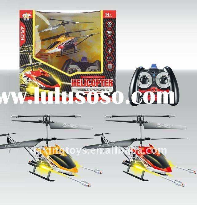 4.5 Channel Remote Control Helicopter With Missile,Gyro,Light