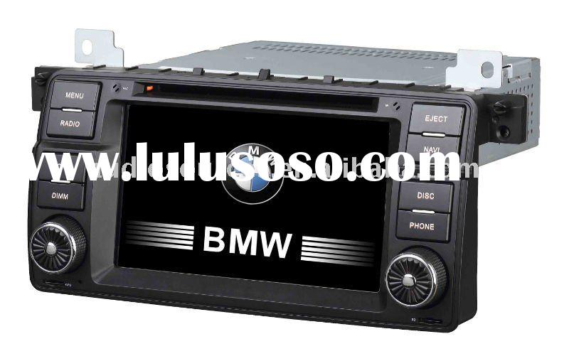 "7"" LCD touch screen car tv dvd for BMW E46 with RATIO,TMC,can-bus"