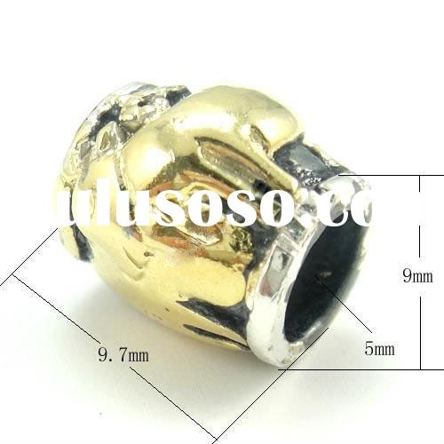 925 Sterling Silver Sheep(The Chinese Zodiac) Beads with Gold Plating on
