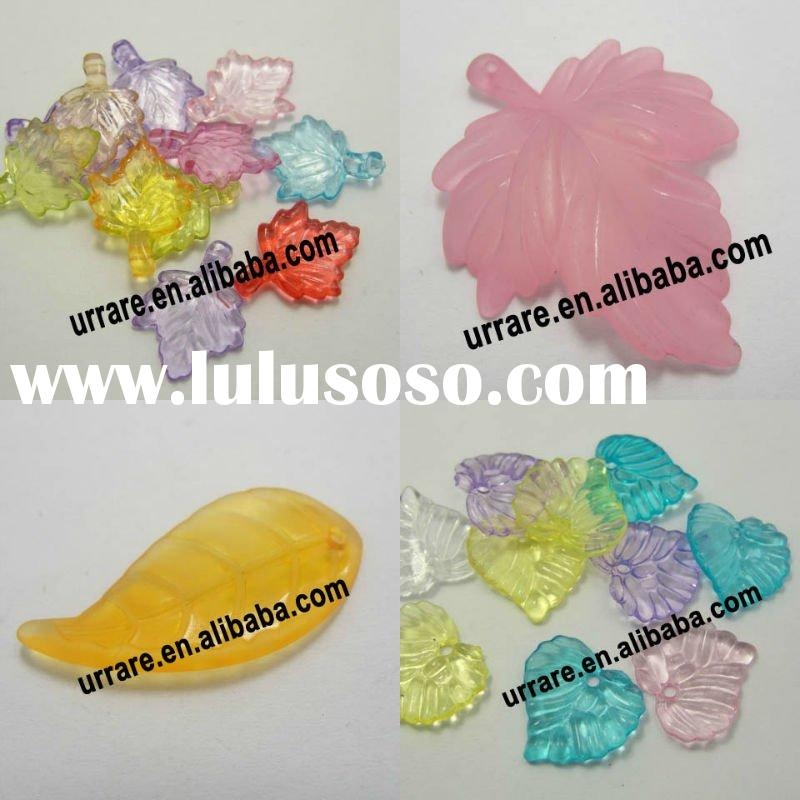 Acrylic Flower and Leaf Shape Frosted Mixed Color Beads For DIY Jewelry Making