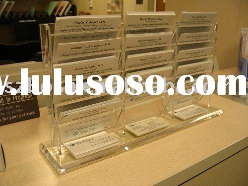 Acrylic Phone Card Display,Perspex Business Card Holder,Plexiglass Memo Card Stand
