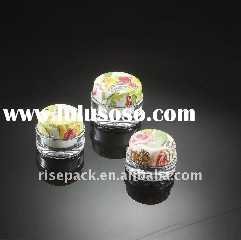 Acrylic cream jars for cosmetic packing