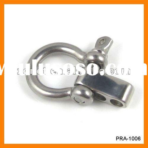 Stainless steel shackle closure