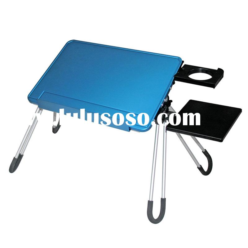 Aluminum portable and foldable laptop table