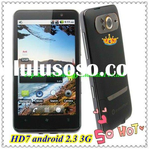 Android 2.3 Mobile Phone HD7 3G Phone with GPS WIFI 5.0 M Camera 4.3 '' Capacitive S
