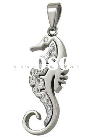 Artificial Jewelry stainless steel Sea Horse pendant fashion jewellery accessories