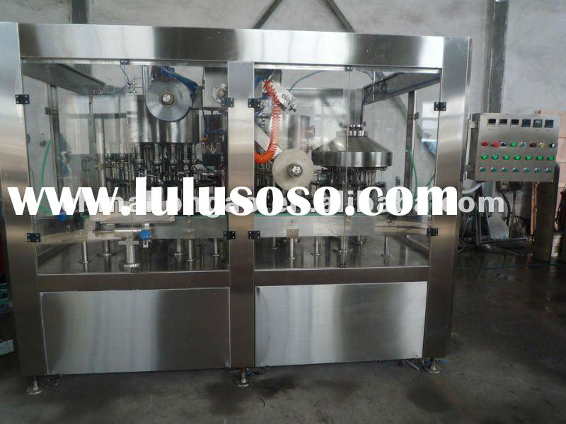 Automatic milk juice liquid beverage yogurt filling and aluminum foil sealing machine and dairy proc