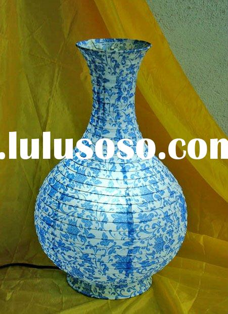 BLUE AND WHITE PORCELAIN series vase shape Chinese troditional style paper table lamp