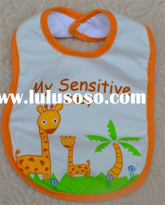 Baby bib, cotton+waterproof cloth BB-001
