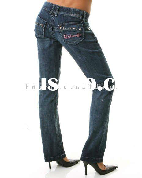 CN stock/overstock cotton/spandex/polyester/denim ladies jeans