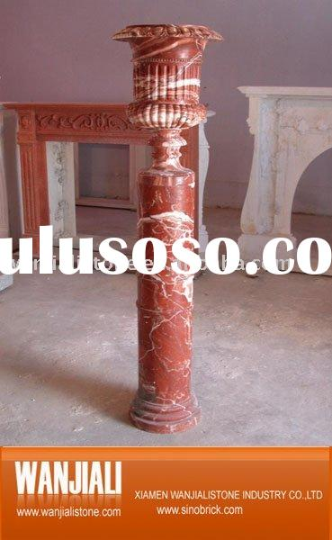 Carved marble column