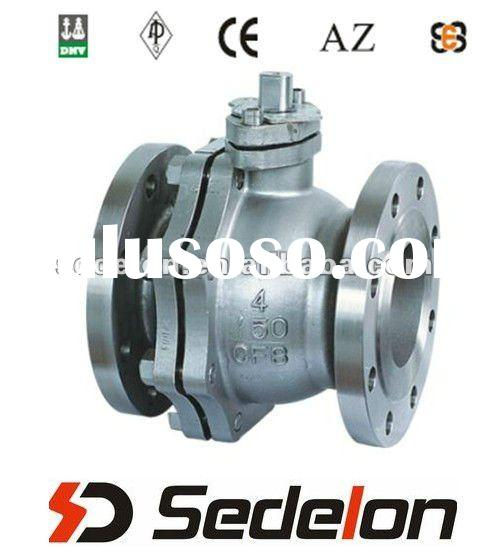 Cast Steel 2PC WCB Floating Ball Valve