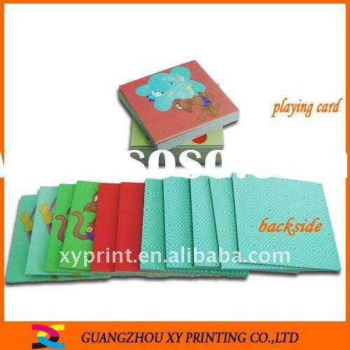 Children's game card with box printing