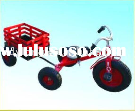 Children's ride on tricycle toy with trailer