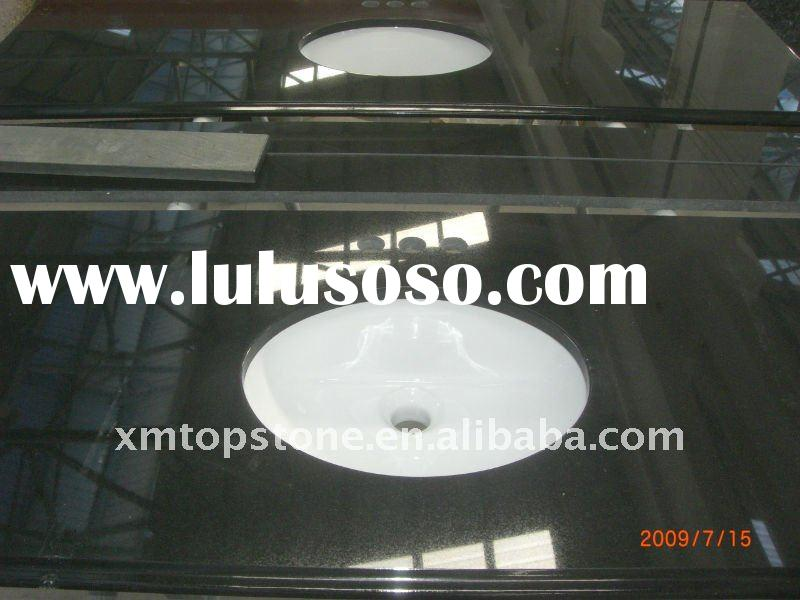China Absolute Black Commercial Bathroom Vanity Tops