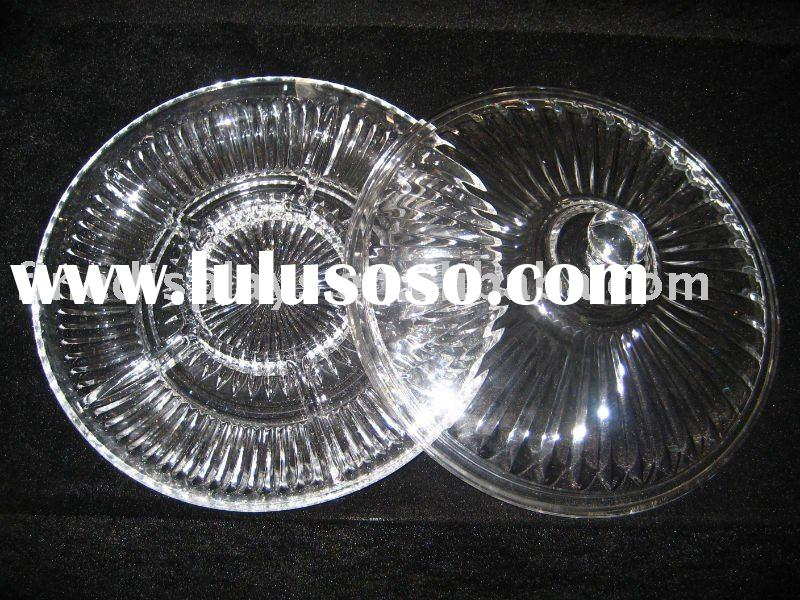 Clear Acrylic Serving Tray with Lid(FD-C-17)
