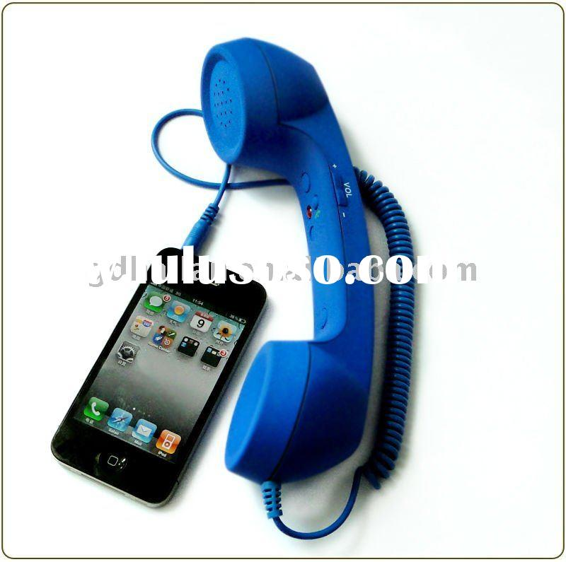 Colorful Retro mobile phone handset for iphone ipod blackberry accessories