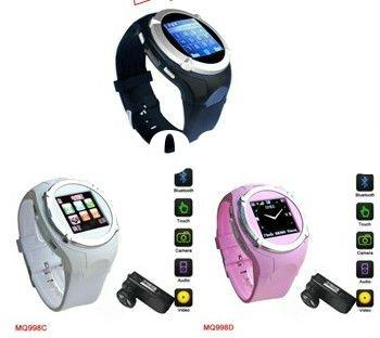 Cool design MQ998 Wrist watch mobile phone with bluetooth camera GSM quad band phone