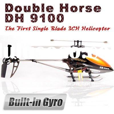 Double Horse RC Helicopter 9100 Single Blade With GYRO