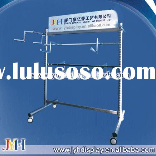 Double T Stand Frame Rack With Double Side Standard, with heavy duty casters