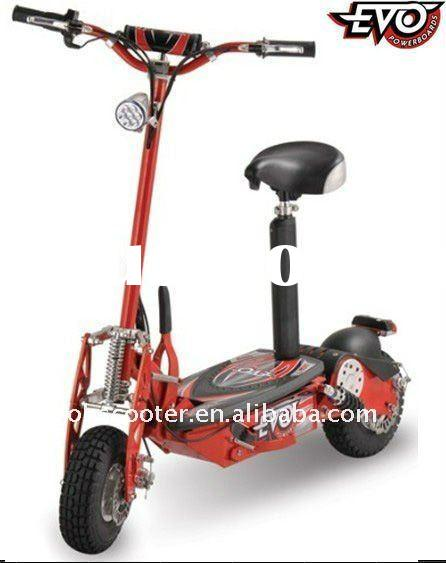 EVO 800W Electric Scooter+LED light system(red)