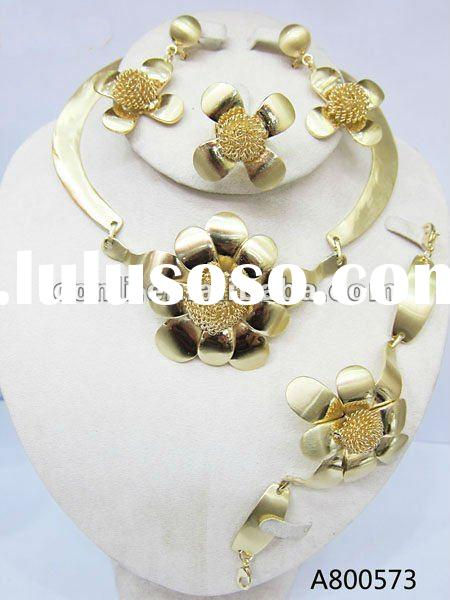 Fashion african jewelry sets A800573 gold plated jewelry set