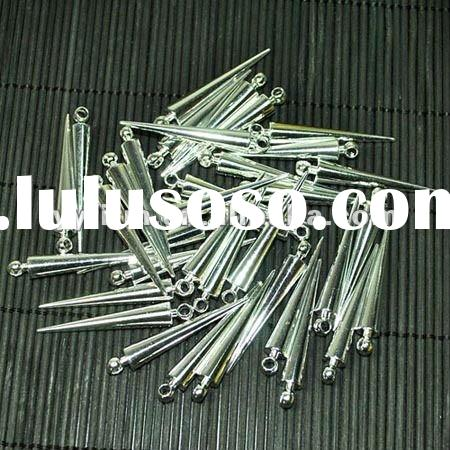 Fashion silver plating spikes beads for Earring accessories