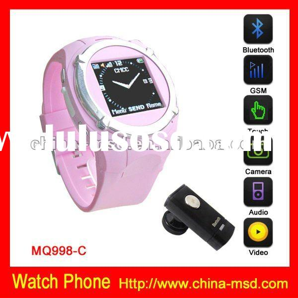 GSM watch phone multi function watch phone with bluetooth