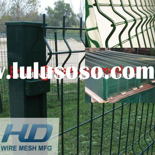 Galvanized and PVC Coated Welded Curved Wire Mesh Fence Panel/Security Fence Panel/Welded curved fen