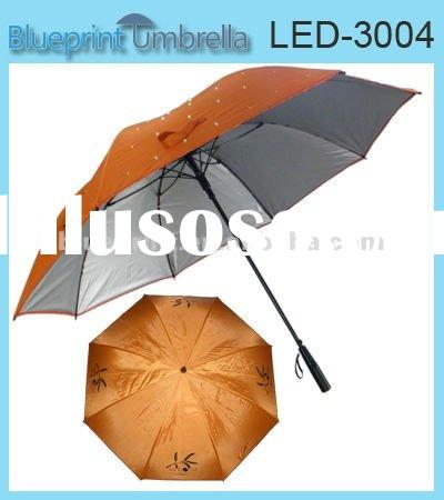 Golf LED Umbrella,Golf Umbrella with LED light,Fabric Golf LED light umbrella