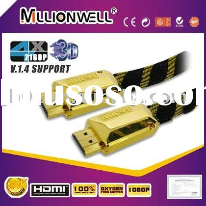 HDMI Cable with gold plated zinc alloy connector