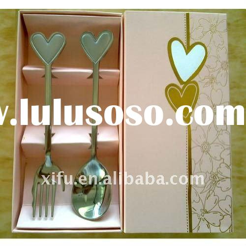Heart-Shaped Lovers Fork and Spoon,Spoons Forks Stainless Steel
