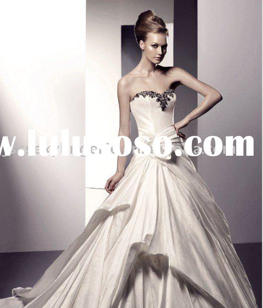 High quality, Low price, Custom made, Min=1pcs, Latest wedding dress evening dress party dress, Fact