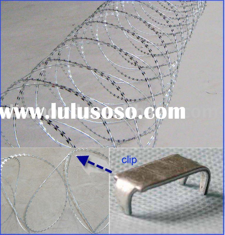 Hot dip Galvanized Concertina Razor Wire