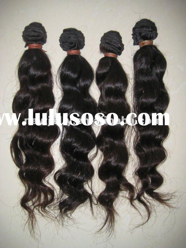 Hot sales Malaysian natural color natural wave hair bundle