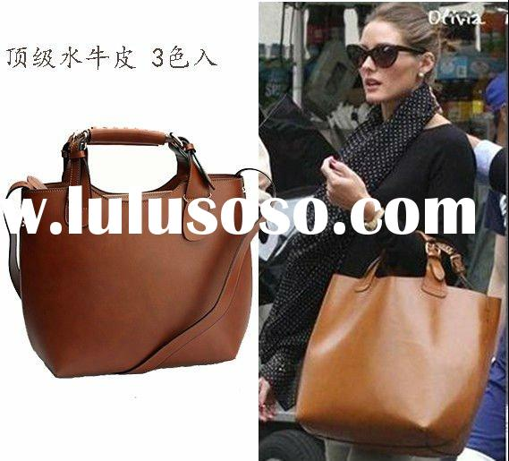 Hot seller 2012! Genuine cow leather handbags fashion for women, with shoulder strap