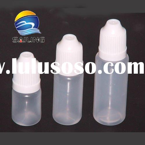 Hot selling plastic empty e liquid bottle with childproof cap and various size