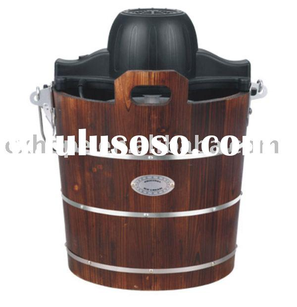 Ice Cream Maker(Traditional wooden bucket ice cream maker, original ice cream machine)