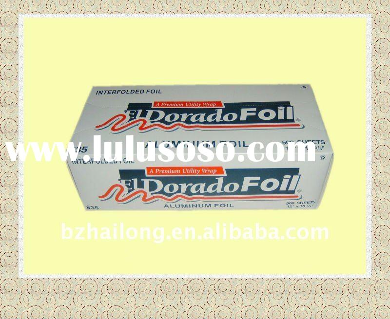 Interfolded Aluminum Foil for Food Packing
