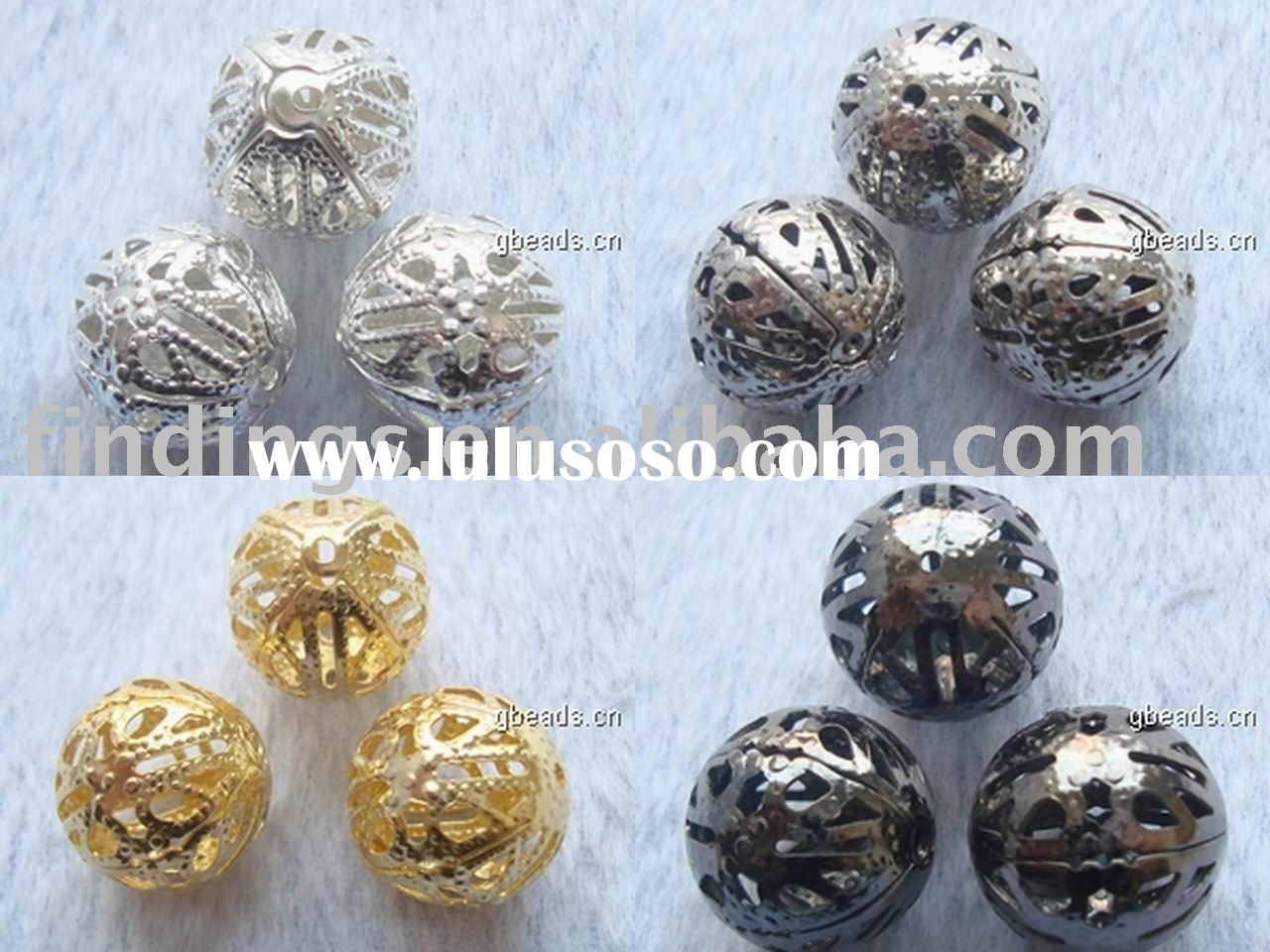 Jewelry findings,cap beads, connectors, wholesale beads, Chinese style, acrylic beads