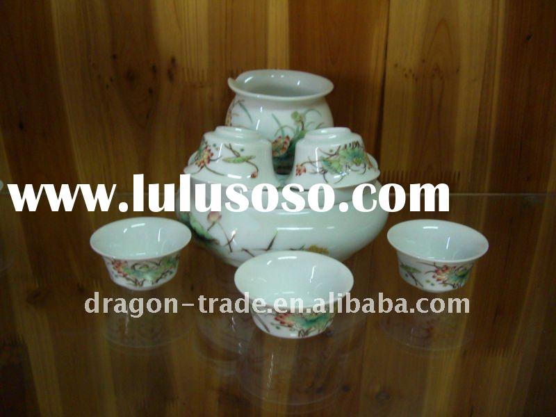 Jingdezhen porcelain blue and white tea set