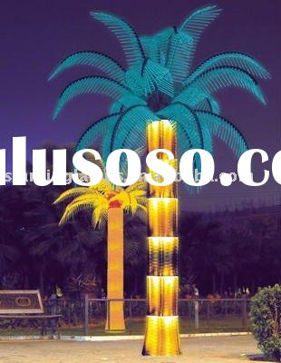 LED Coconut palm tree with lighting trunk