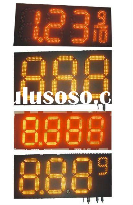 LED gas price sign,fuel pricing board stand,oil station price sign