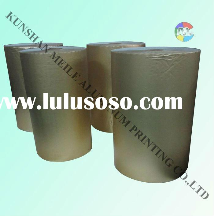 Laminated aluminum foil paper for chocolate package in big roll