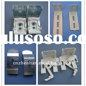 Metal curtain wall bracket or installation bracket and Ceiling clip for curtain track/rail/tube/rod-