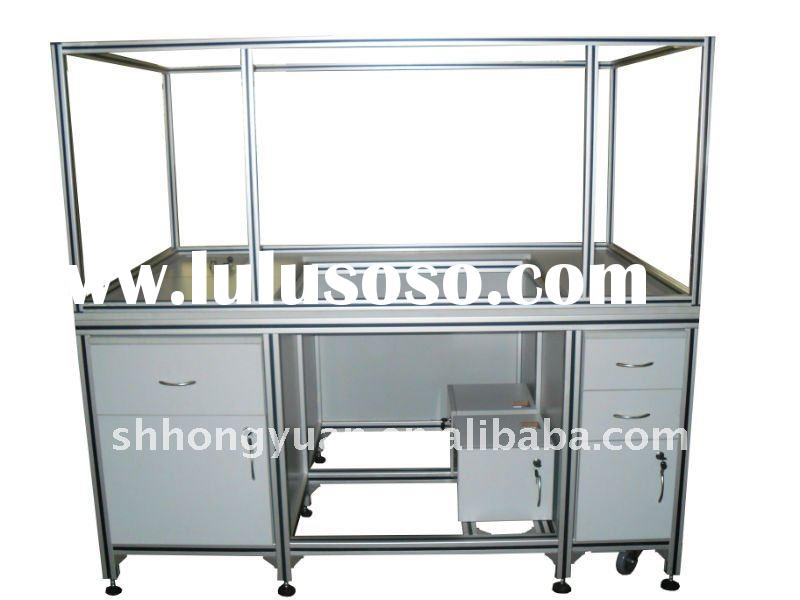 Multicapable Aluminum Extrusion Frame for cabinet / door /window /curtain wall/ glass shelf