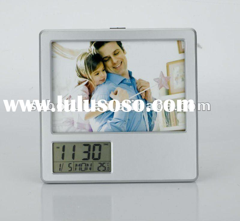 Multifunction with digital calendar battery operated digital photo frame
