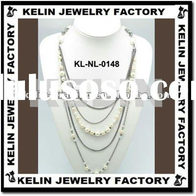 Necklace Chain Pearl Necklace Designs KL-NL-0147-J