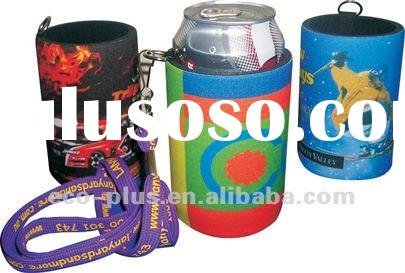 Neoprene Can Cooler With Lanyard
