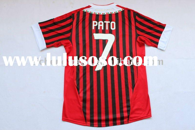 New AC Milan 11-12 Home Cheap T Shirts PATO 7 For Wholesale